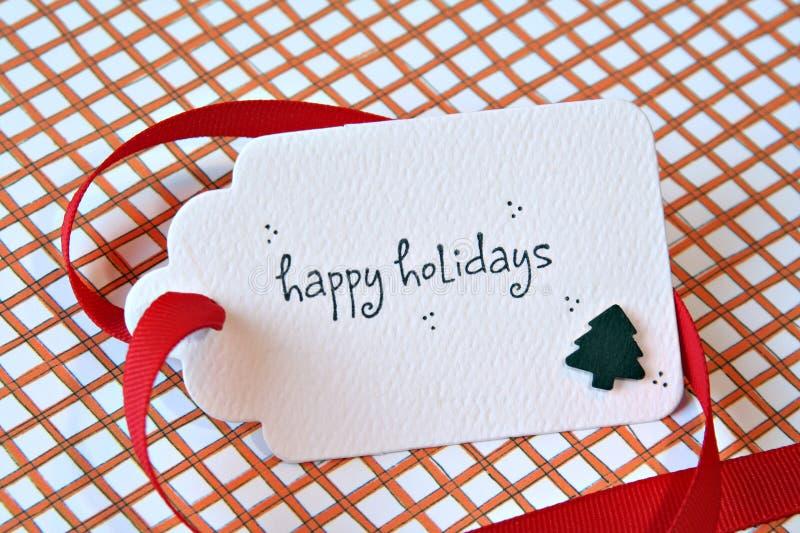 Tarjeta del regalo de la Navidad fotos de archivo