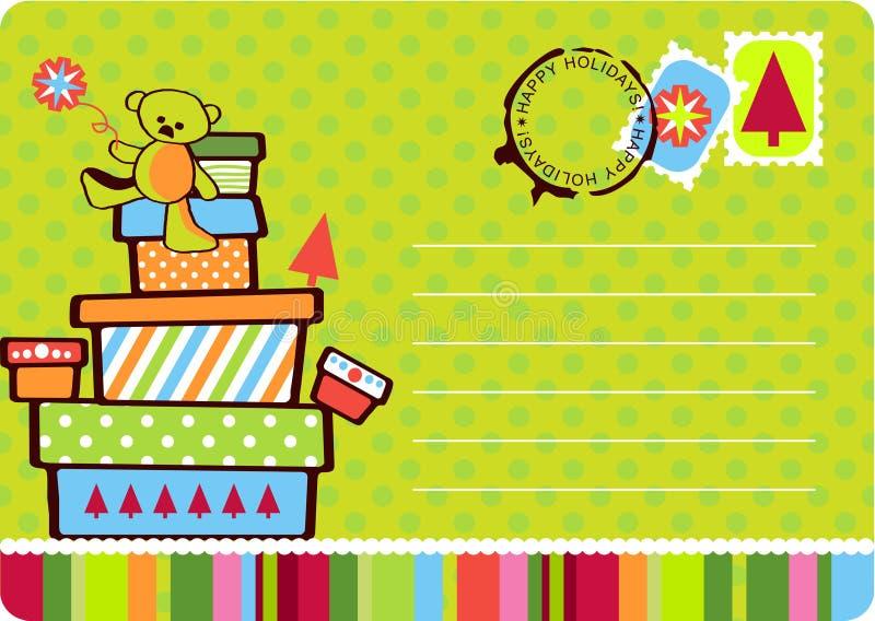 Tarjeta del regalo de la Navidad libre illustration