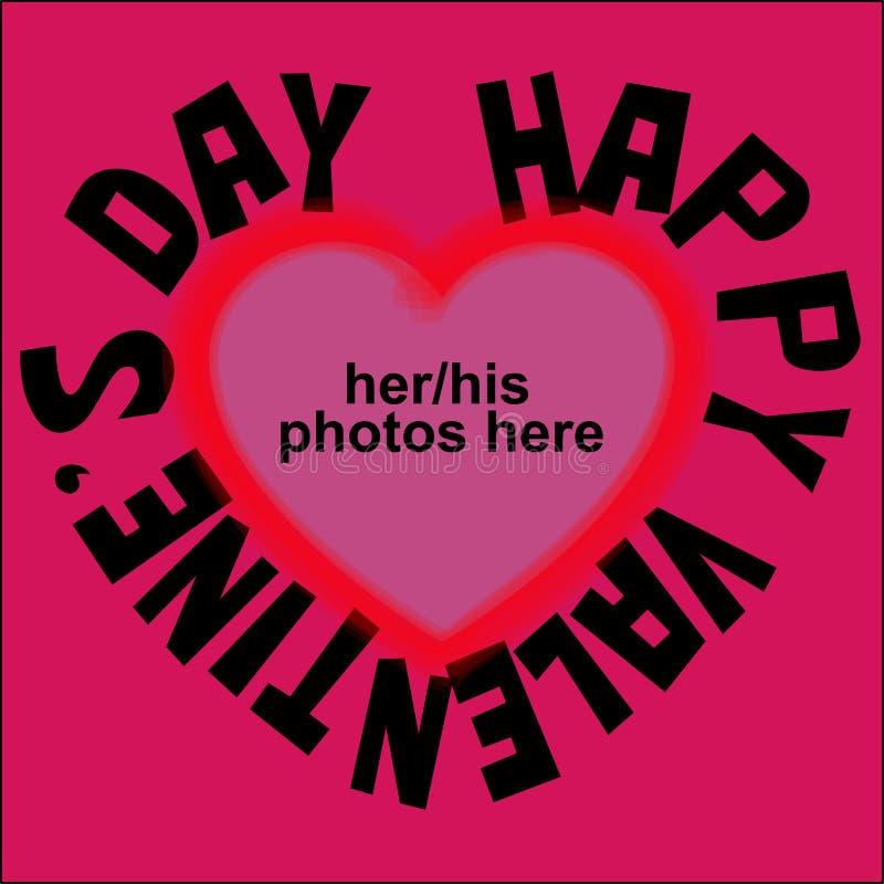 Tarjeta del `s de la tarjeta del día de San Valentín fotografía de archivo libre de regalías