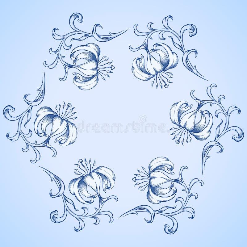 Tarjeta del saludo o de la invitación del vector ilustración del vector