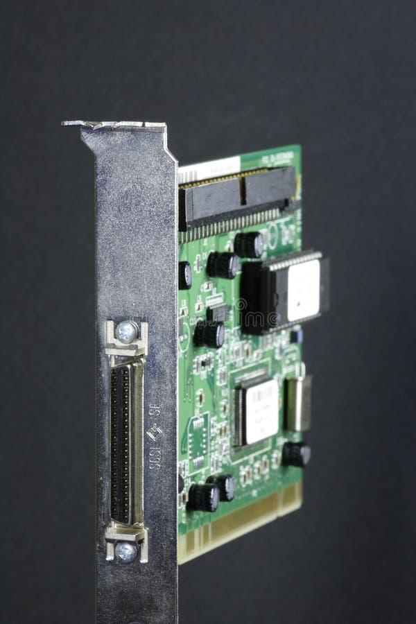 Tarjeta del SCSI fotografía de archivo
