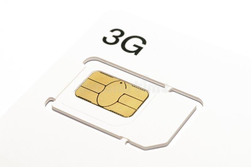 tarjeta del sim 3G fotos de archivo libres de regalías