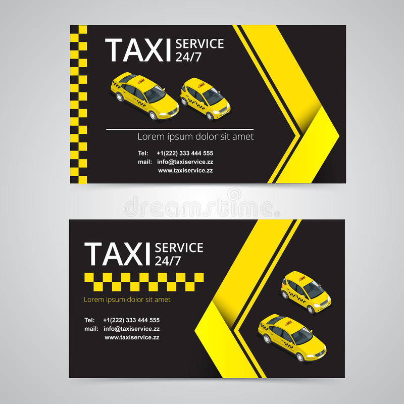 Tarjeta Del Taxi Para Los Taxistas Servicio Del Taxi Plantilla De La ...