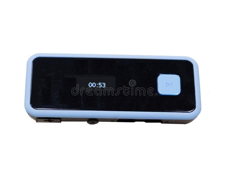 Tarjeta del TF de la ayuda de la pantalla LCD del jugador de música del USB Digital MP3 y radio portátiles de FM imagen de archivo libre de regalías