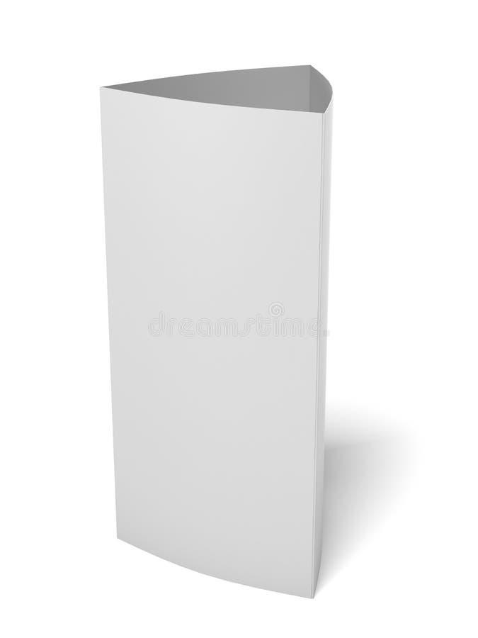 Tarjeta del triángulo del papel en blanco ilustración del vector