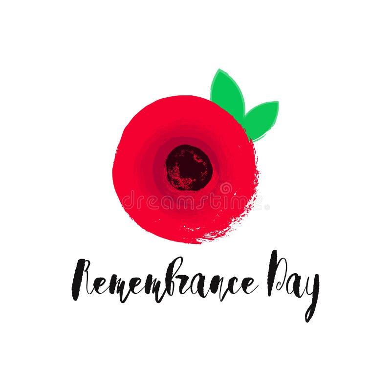 Tarjeta del vector del día de la conmemoración, bandera Anzac Day libre illustration