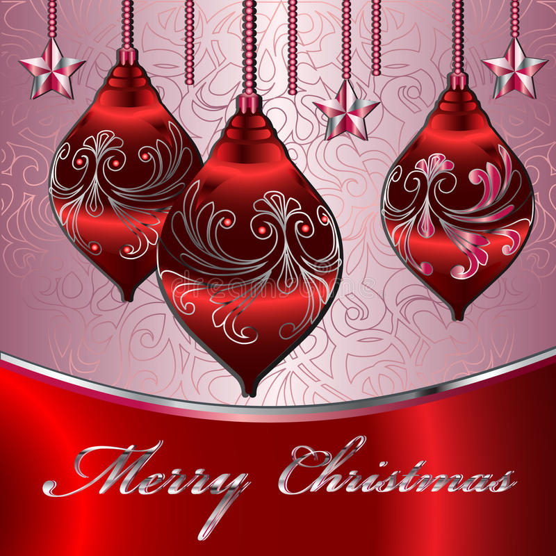 Tarjeta del vector de la Feliz Navidad libre illustration