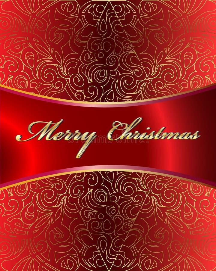 Tarjeta del vector de la Feliz Navidad stock de ilustración