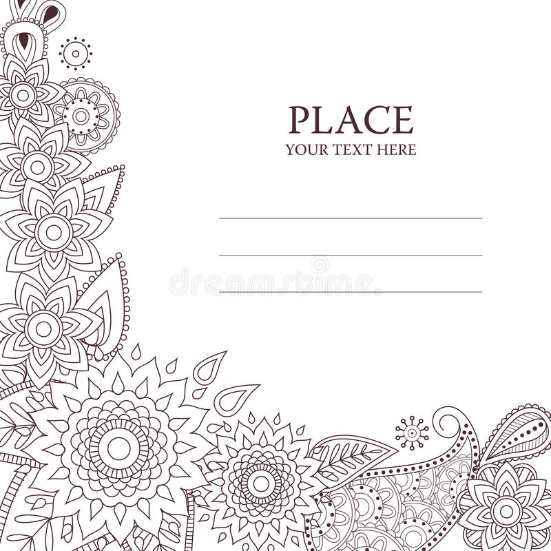 Tarjeta del vector de la invitación con el modelo de Paisley libre illustration