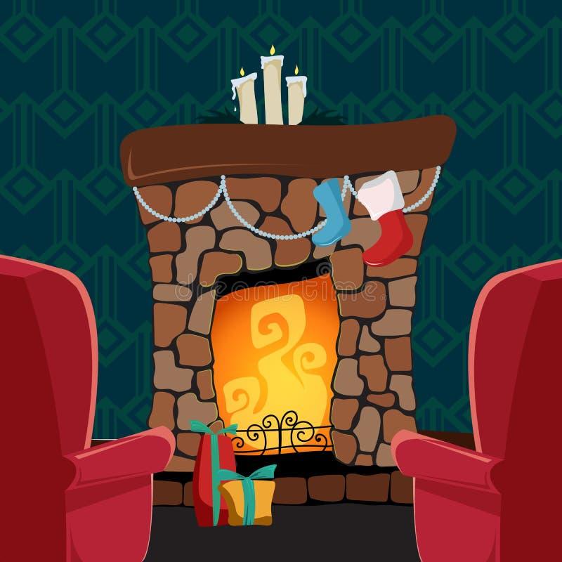 Tarjeta del vector de la Navidad stock de ilustración