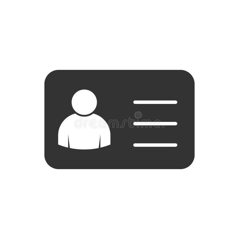 Tarjeta del vendedor del empleado, ejemplo del icono del vector del vcard para el dise?o gr?fico, logotipo, sitio web, medio soci ilustración del vector