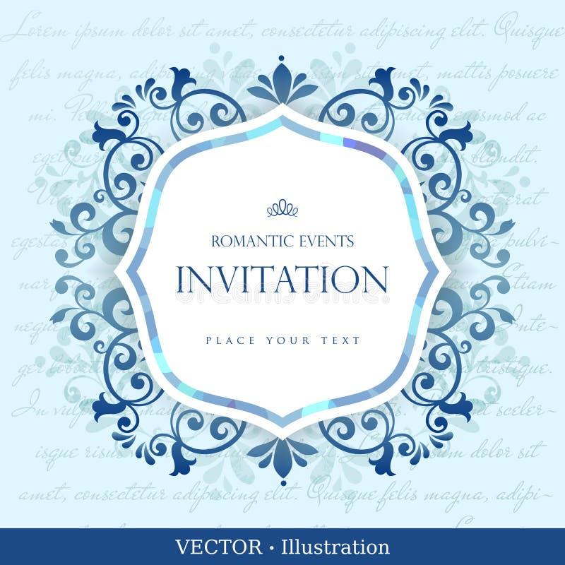 Tarjeta del vintage con diseño del ornamento floral. ilustración del vector
