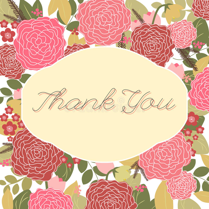 Download Tarjeta Del Vintage Con Las Flores Color De Rosa Y Coloridas Ilustración del Vector - Ilustración de flor, dating: 42432070