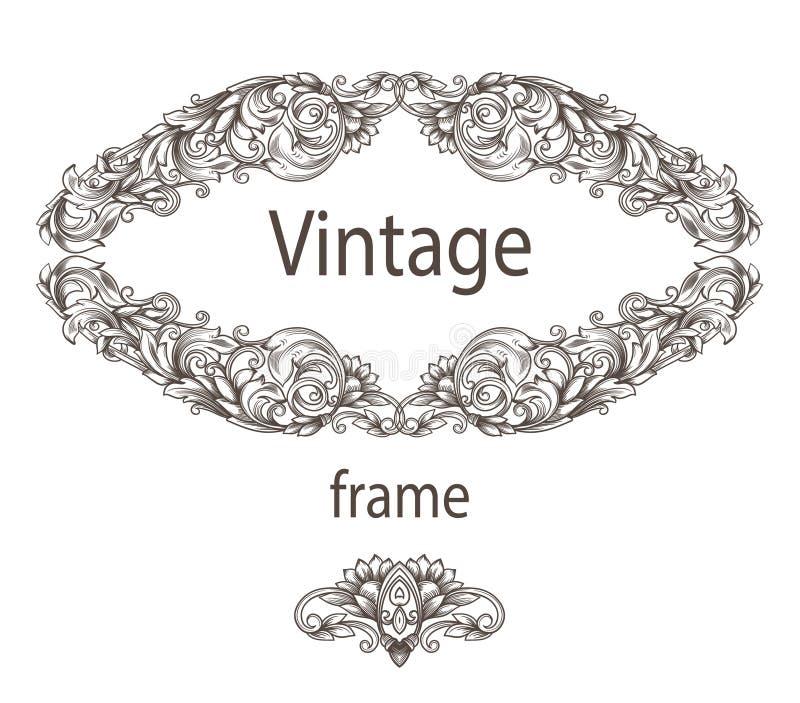 Tarjeta del vintage con los modelos stock de ilustración