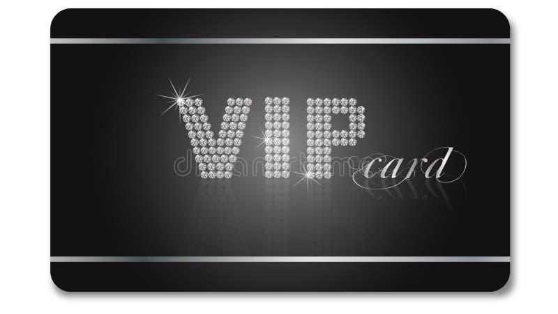 Tarjeta del VIP stock de ilustración