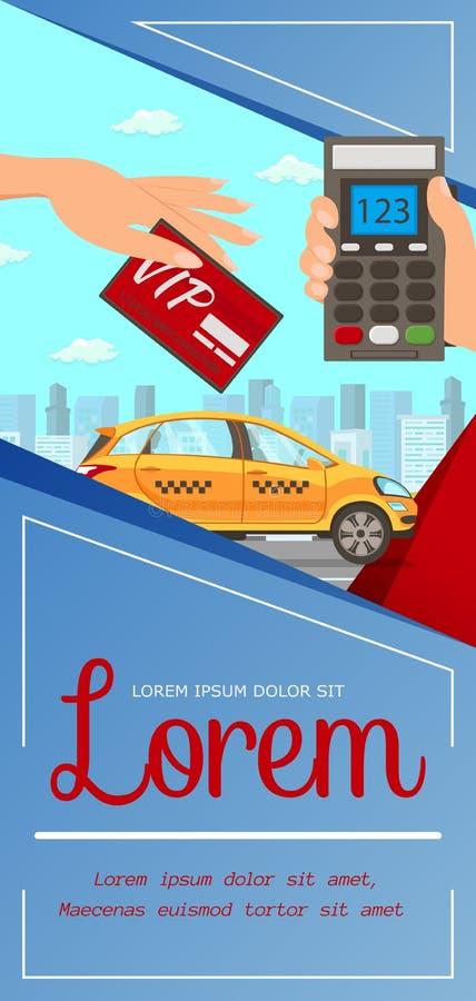 Tarjeta del Vip, ejemplo del vector del plano de servicio del taxi libre illustration