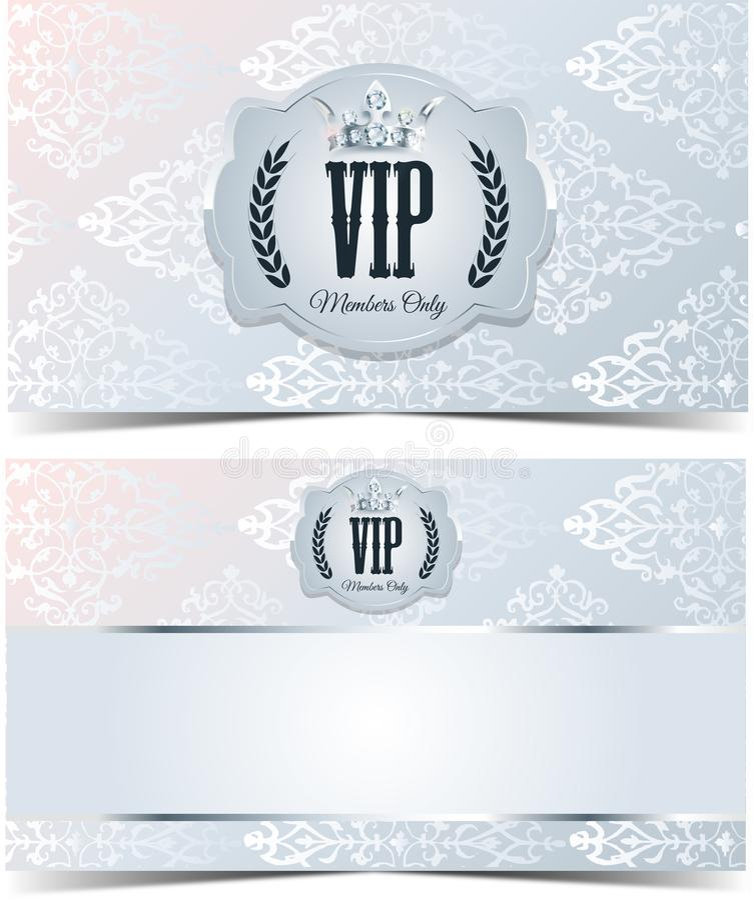 Tarjeta del Vip Fondo de plata Calidad superior stock de ilustración