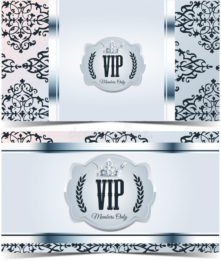 Tarjeta del Vip Fondo de plata Calidad superior libre illustration