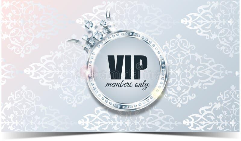 Tarjeta del Vip Fondo de plata Calidad superior ilustración del vector
