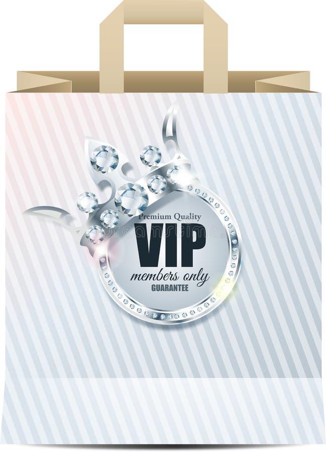 Tarjeta del Vip Fondo de plata Calidad superior corona stock de ilustración