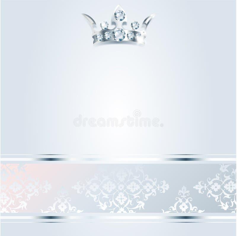 Tarjeta del Vip Fondo de plata Calidad superior corona libre illustration