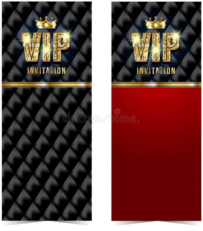 Tarjeta del Vip Fondo negro del sofá Calidad superior stock de ilustración