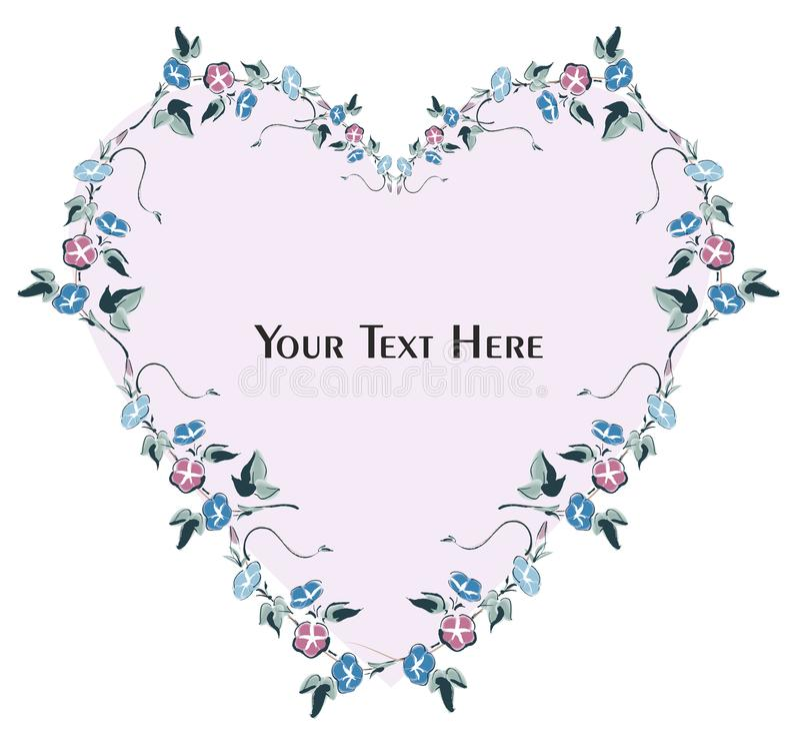 Tarjeta e invitación florales de felicitación stock de ilustración