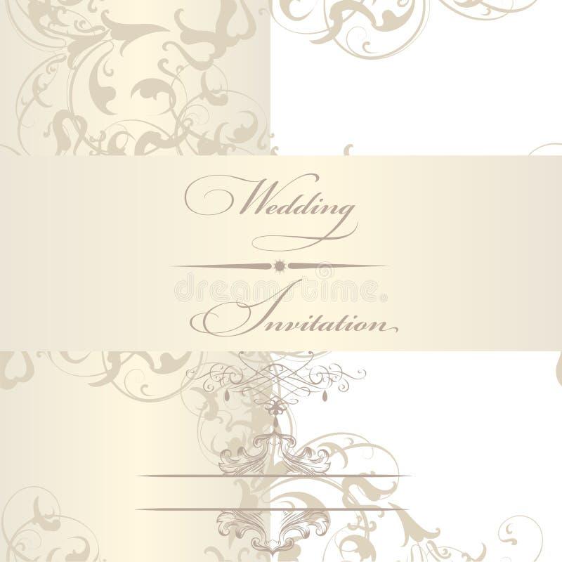 Tarjeta elegante de la invitación de la boda stock de ilustración
