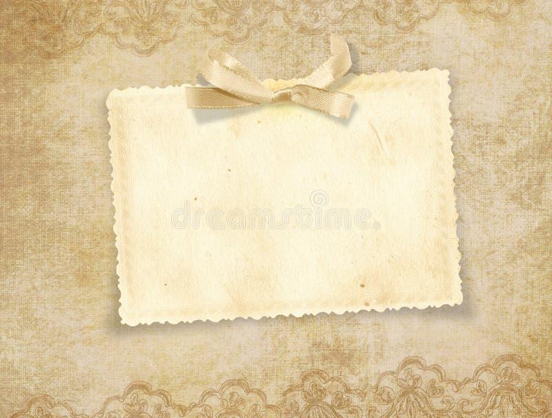 Tarjeta elegante de la vendimia para el día de fiesta stock de ilustración