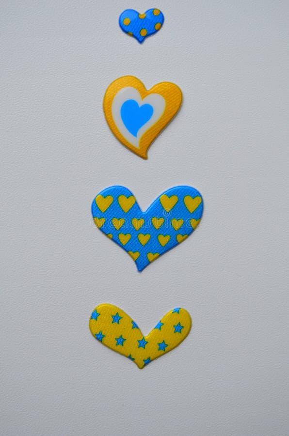 Tarjeta en amarillo y azul fotografía de archivo libre de regalías