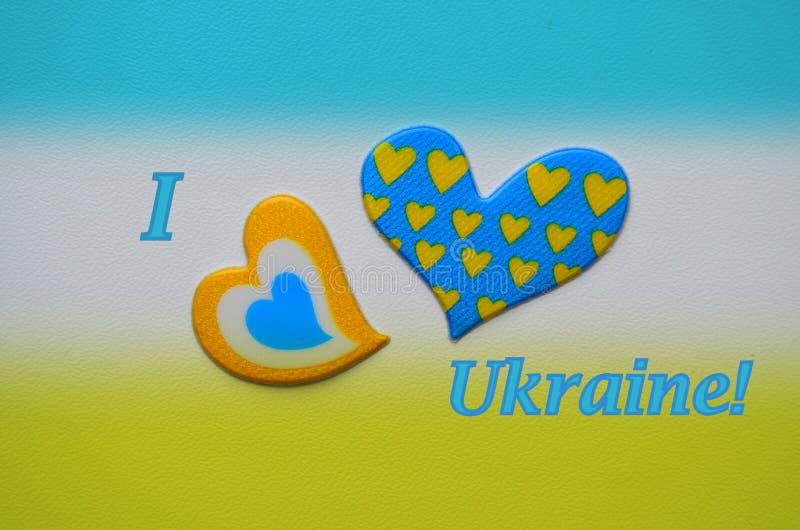 Tarjeta en amarillo y azul, Ucrania fotos de archivo