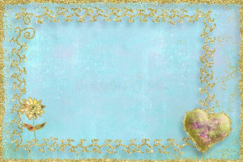 Tarjeta en blanco para el día de tarjetas del día de San Valentín del santo fotos de archivo libres de regalías