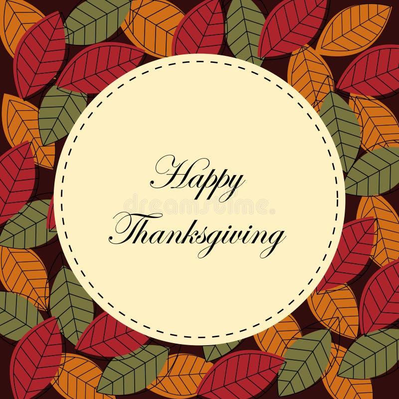 Tarjeta Feliz De La Acción De Gracias Fotos de archivo libres de regalías