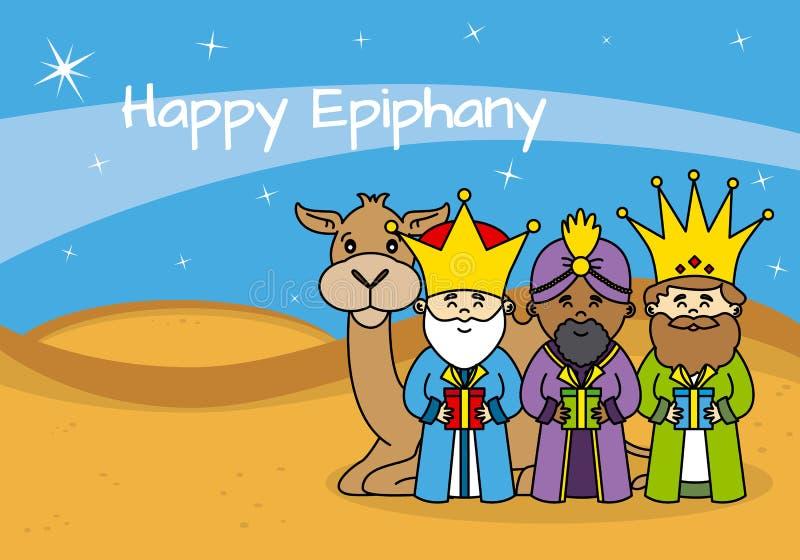 Tarjeta feliz de la epifanía libre illustration
