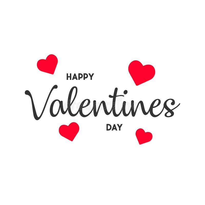 Tarjeta feliz del día de la tarjeta del día de San Valentín s ejemplo moderno EPS10 del vector del fondo ilustración del vector