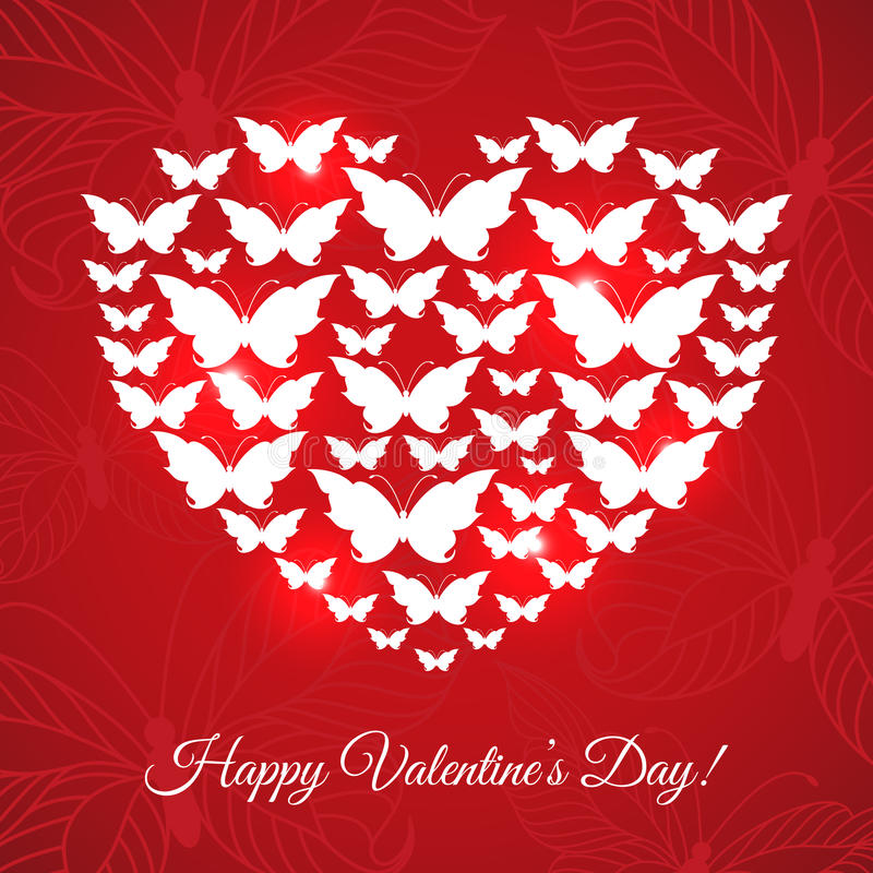 Tarjeta feliz del día de tarjeta del día de San Valentín libre illustration