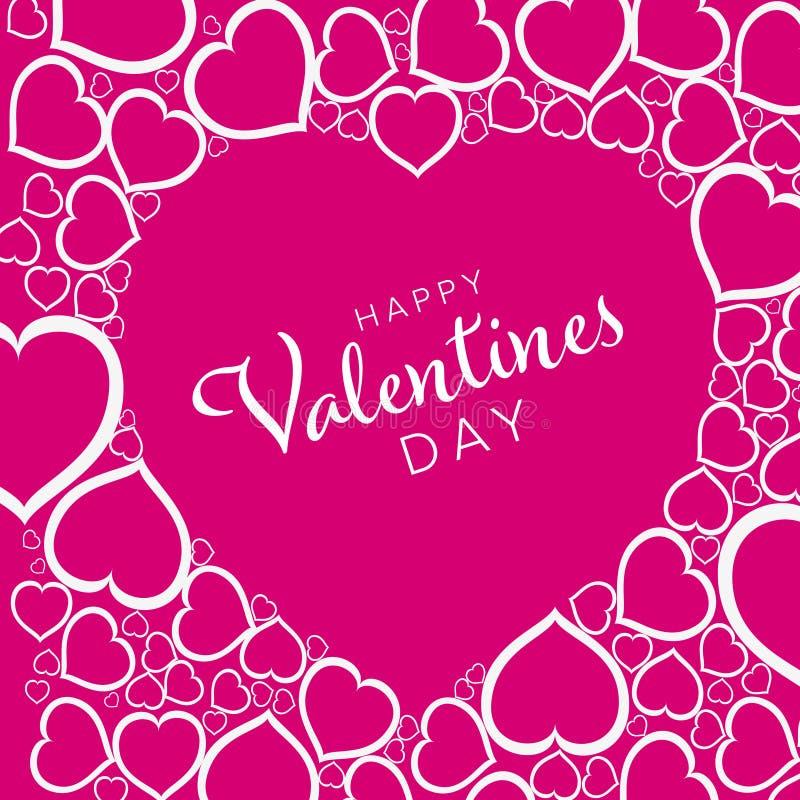 Tarjeta feliz del día de tarjetas del día de San Valentín stock de ilustración