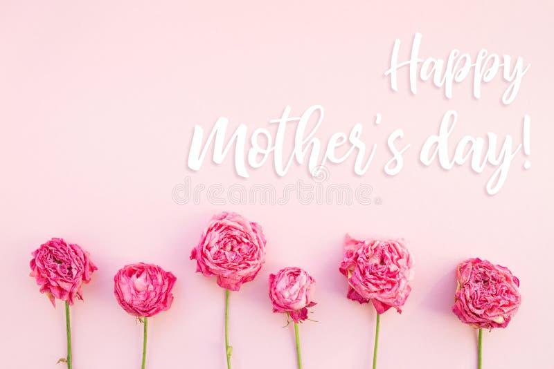 Tarjeta feliz del día del `s de la madre imagenes de archivo