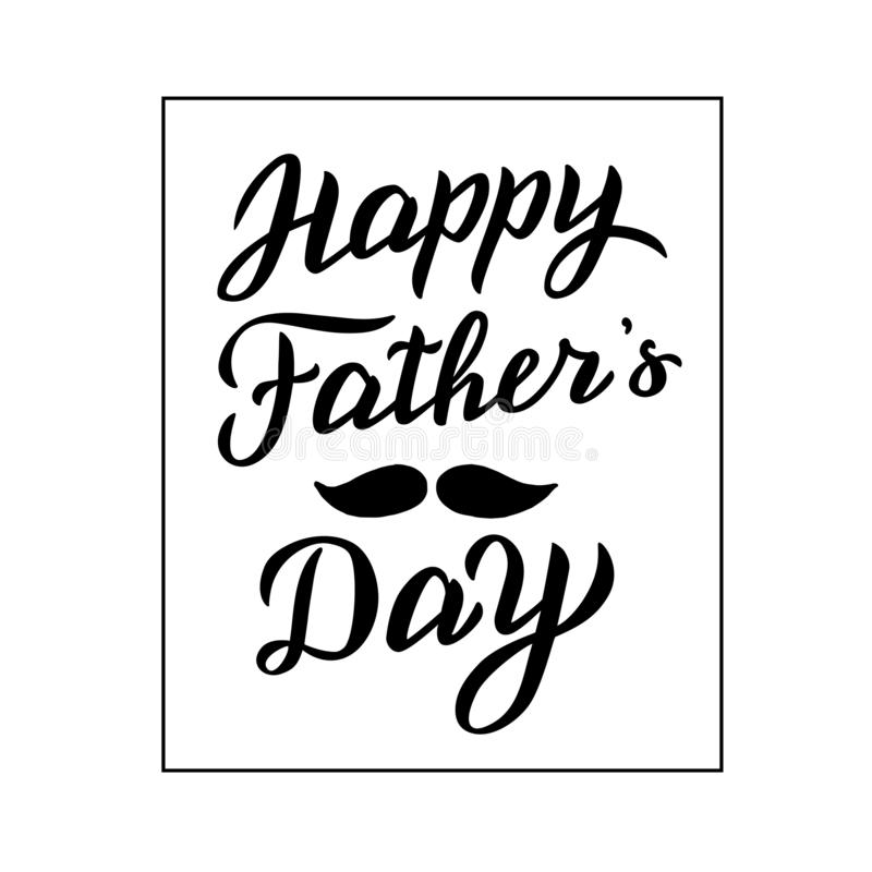 Tarjeta feliz del d?a del ` s del padre Texto que pone letras moderno Cartel de la celebraci?n del d?a de padre ilustración del vector
