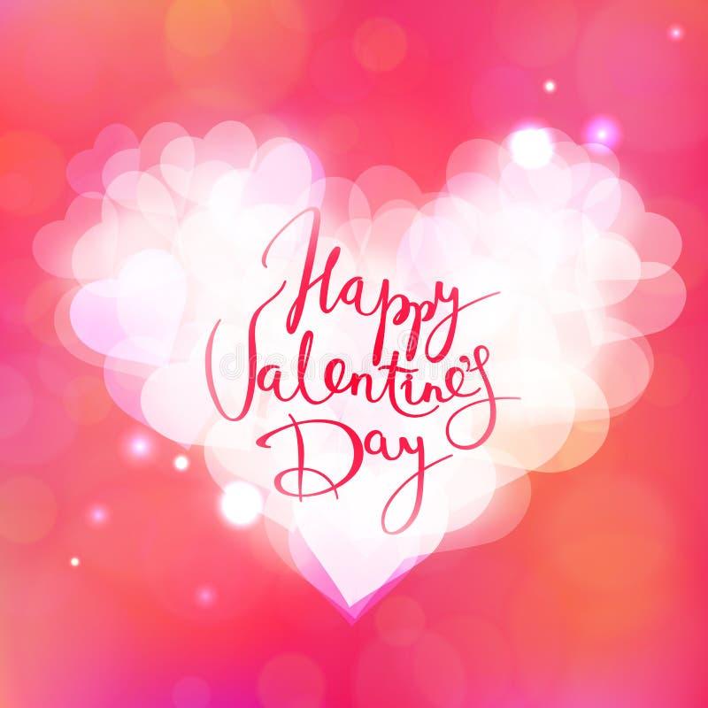 Tarjeta feliz del vector del día de tarjeta del día de San Valentín stock de ilustración