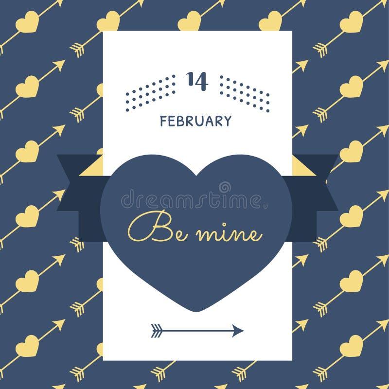 Download Tarjeta Feliz Del Vintage Del Día De Tarjeta Del Día De San Valentín Ilustración del Vector - Ilustración de saludo, tarjeta: 64211836