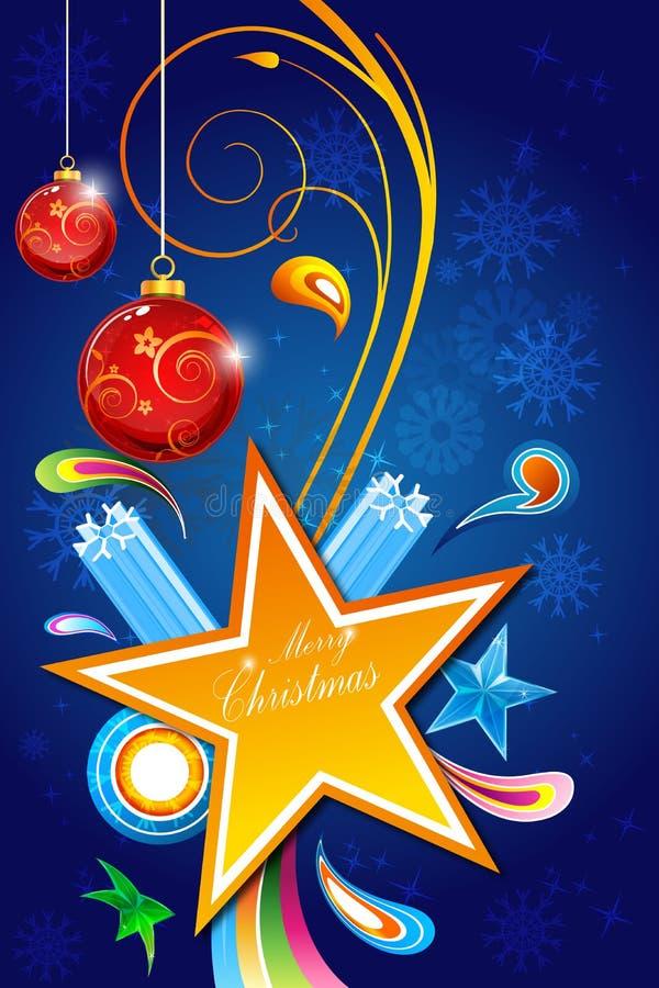 Tarjeta floral abstracta de la Feliz Navidad libre illustration