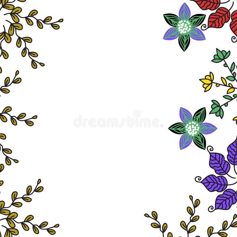 Tarjeta floral colorida, ejemplo libre illustration