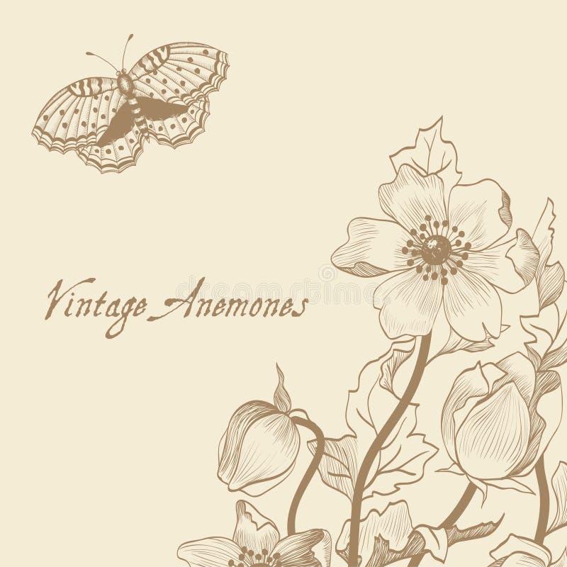 Tarjeta floral de la primavera del vector con las flores libre illustration