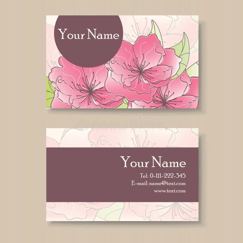 Tarjeta floral del negocio o de visita libre illustration