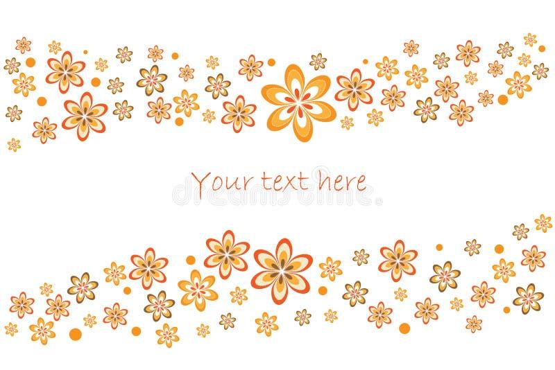 Tarjeta floral del resorte ilustración del vector