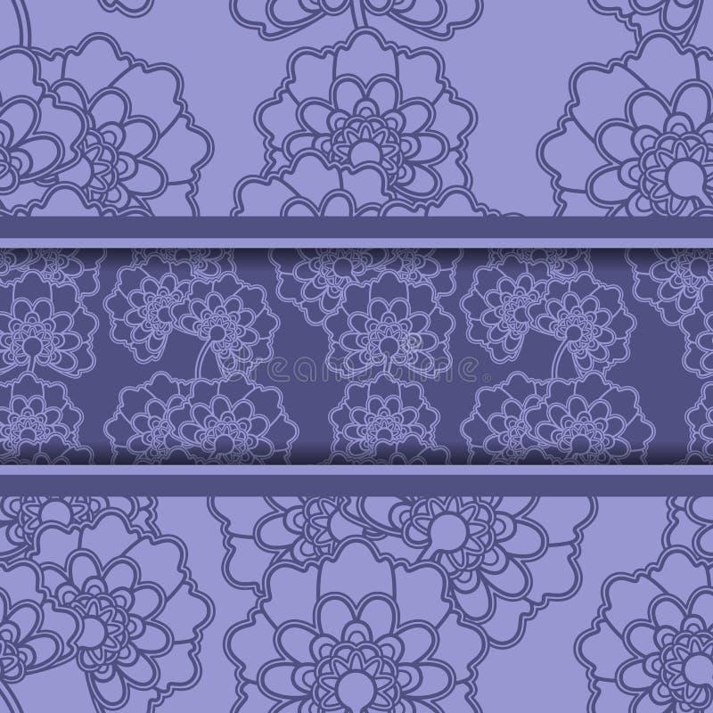Tarjeta floral del saludo o de la invitación stock de ilustración