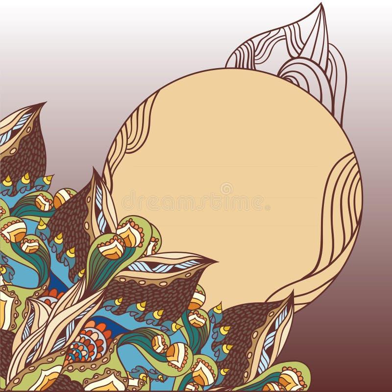 Download Tarjeta floral fantástica ilustración del vector. Ilustración de contexto - 41902831
