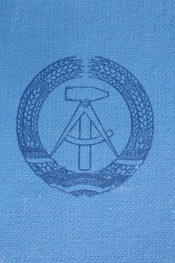 Tarjeta germanooriental de la identificación foto de archivo