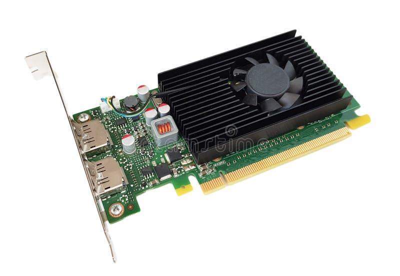 Tarjeta gráfica de PCI Express del equipo de escritorio foto de archivo libre de regalías